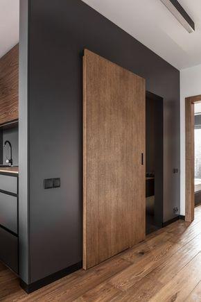 puerta de madera corrediza moderna