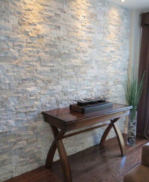 revestimiento de piedra para interior color claro