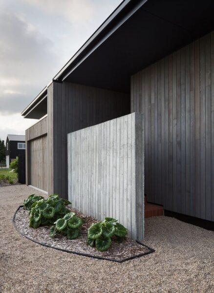 revestimiento exterior de madera moderno