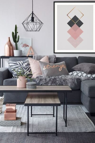 sala de estar pisos oscuro alfombra gris claro