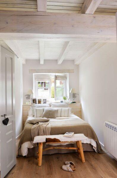 Ideas para dormitorios pequenos con camas de dos plazas