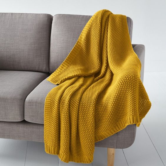 Mantas de lana tejida para sofa
