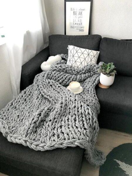 Mantas estilo nordico modernas para sofa