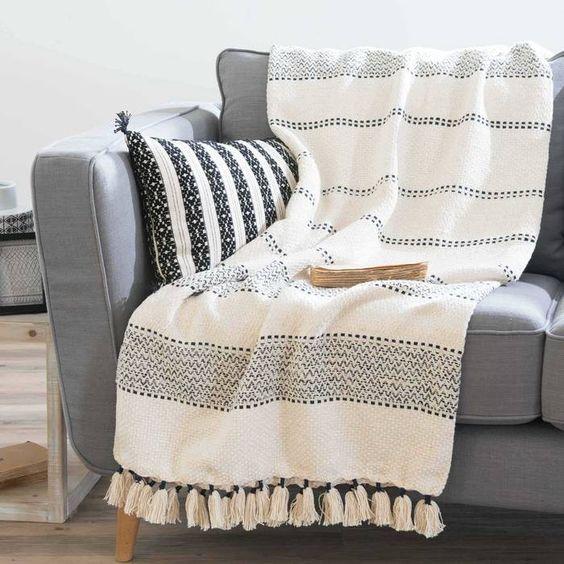 Mantas rusticas modernas para sofa