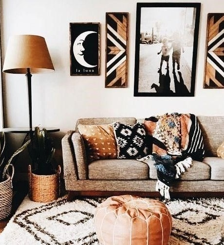Mantas tejido rustico para sofa