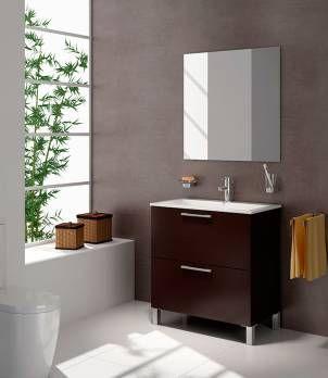 Mueble para lavatorio baño madera de wengué