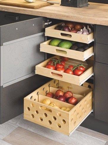 cajones para organizar frutas y verduras