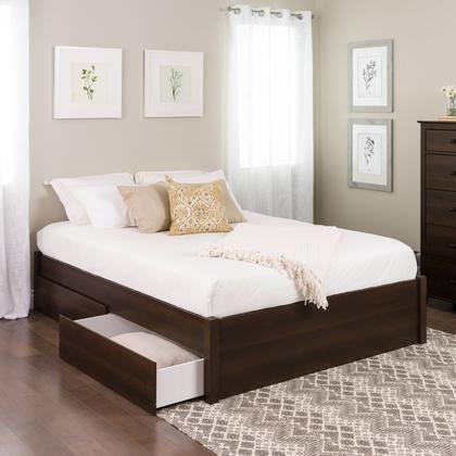 cama con cajones de madera de wengué