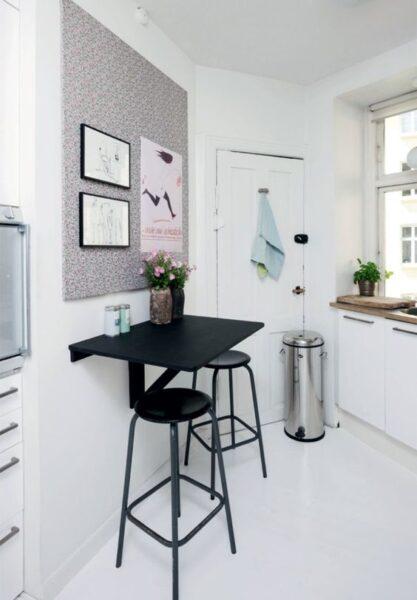 desayunador moderno para cocinas pequeñas
