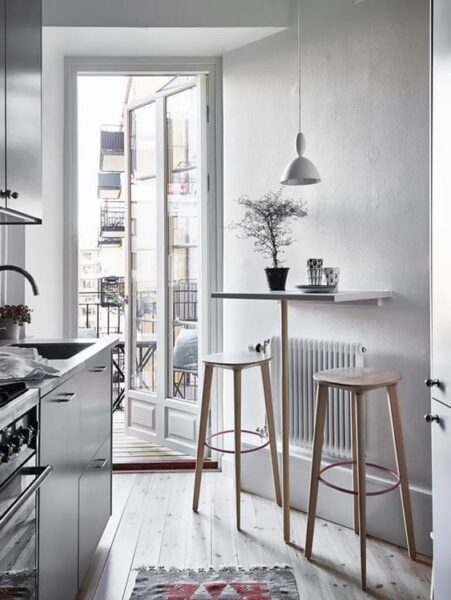 desayunador para espacios pequeños