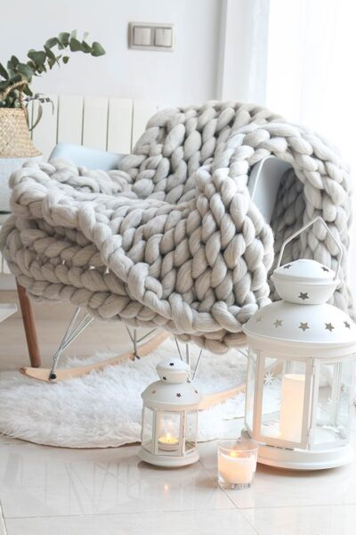 mantas estilo nordico para sillon