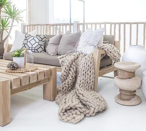 mantas tejidas de lana estilo nordico moderno