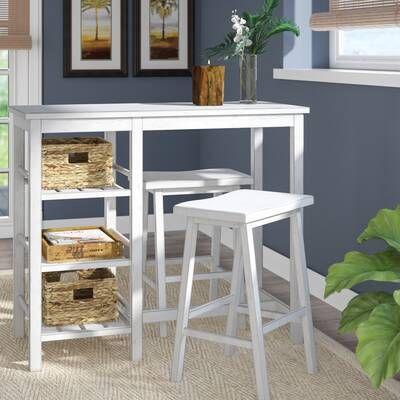 mesa desayunadora blanca de madera