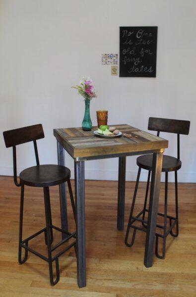 mesa desayunadora estilo industrial