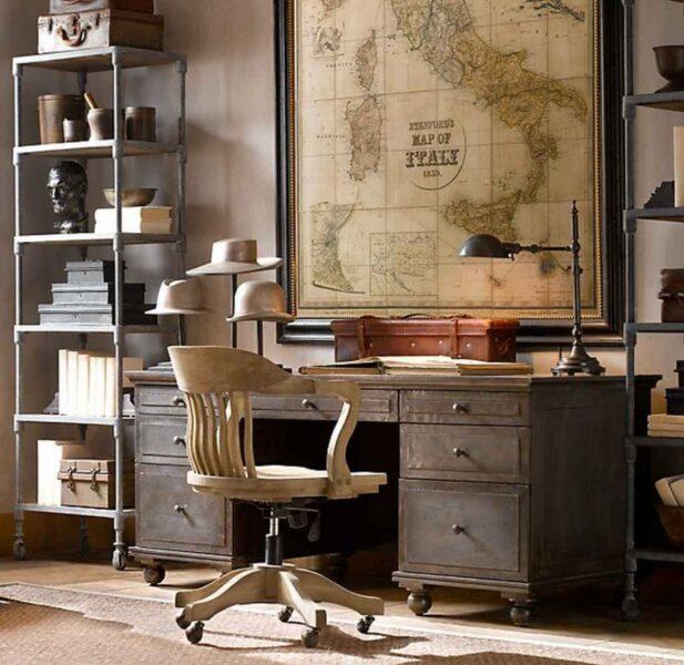 oficina elegante antigua estilo steampunk