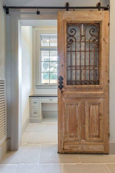 puerta vintage corredera restaurada