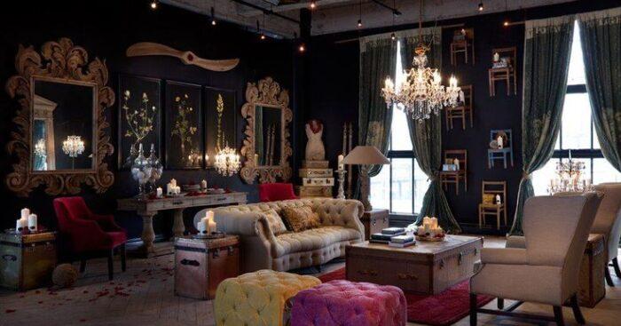 sala de estar estilo decoracion steampunk