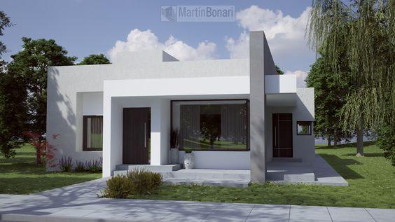 Diseno frente casa pequena moderna