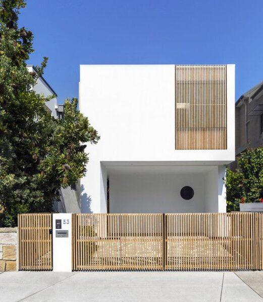 casa fachada minimalista de dos plantas