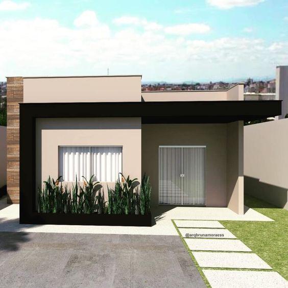 frente de casa pequena minimalista moderna