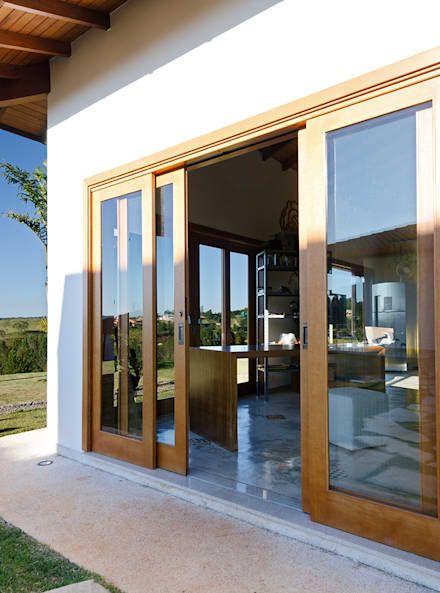 ventanales de pvc simil madera