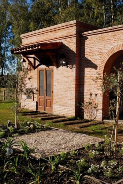 fachadas rusticas de campo con ladrillo visto