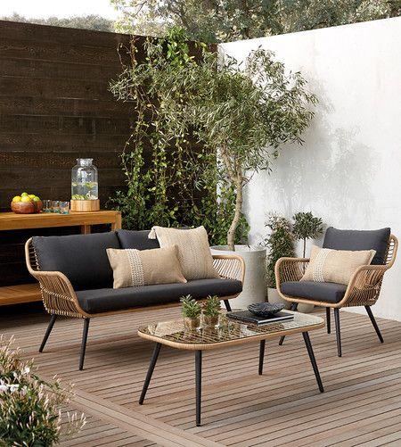 piso para patio exterior con deck de madera