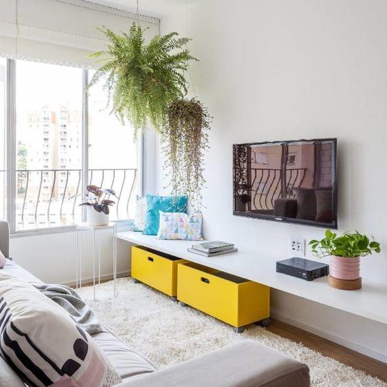 sala de estar pequena y sencilla